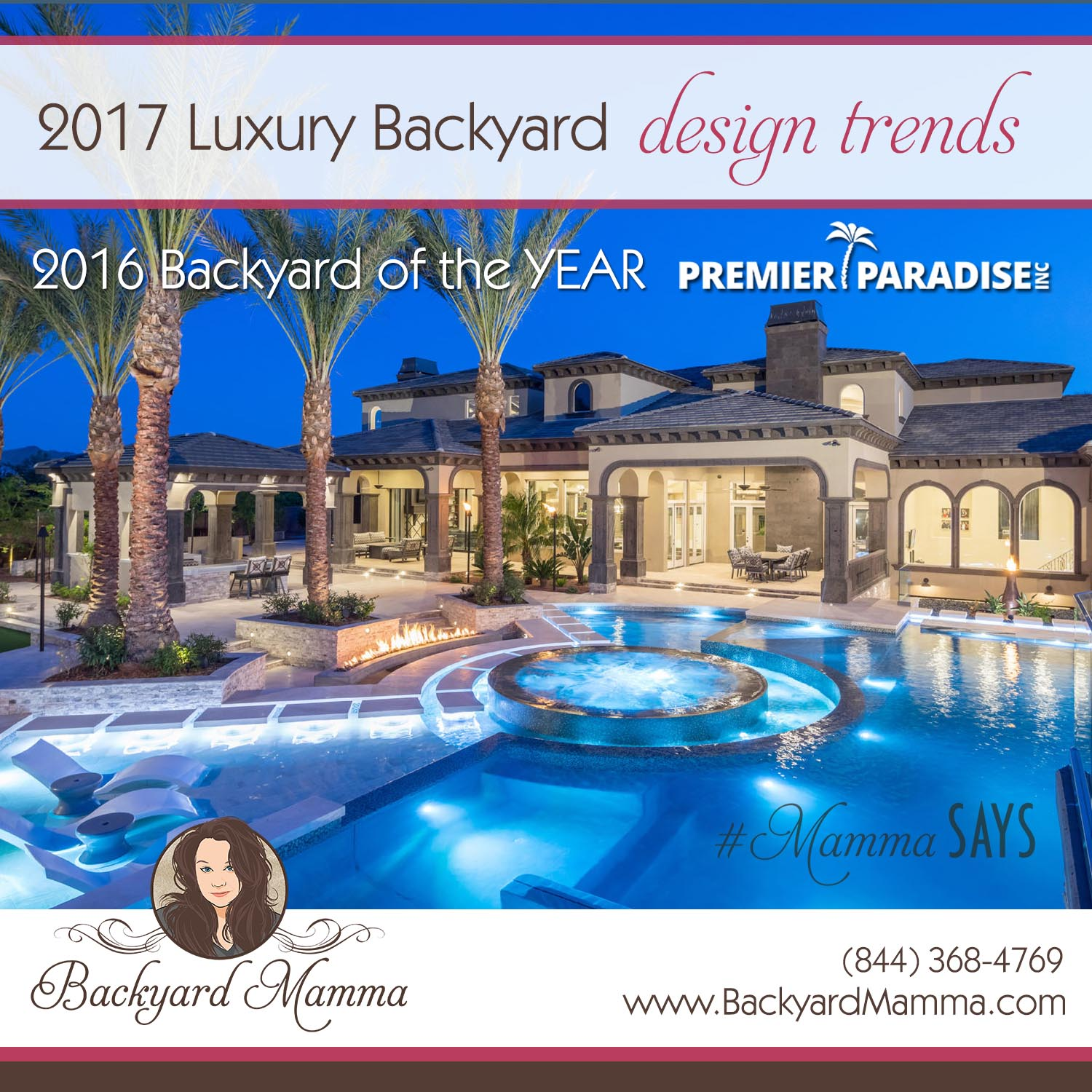 Backyard mamma luxury outdoor living design ideas for for Pool design trends 2017