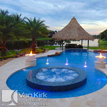 Van Kirk & Sons Pools & Spas (raised inset spa)