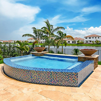 Van Kirk & Sons Pools & Spas (glass tile)