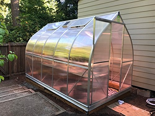 Climapod 7x12 6-MM Twin-wall Polycarbonate Greenhouse, Spirit Complete kit