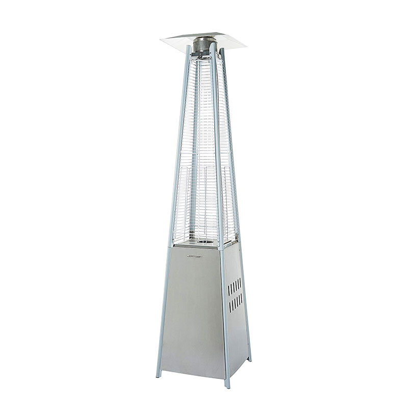 Outdoor Pyramid Patio Heater, Stainless Steel